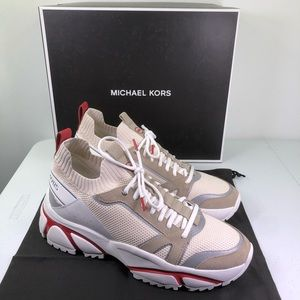 MICHAEL KORS Lucas Sneakers 42ROLUFS3D Bright Red